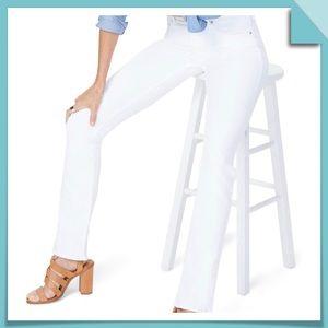 NYDJ BILLIE Mini Bootcut White Jeans Size 10L
